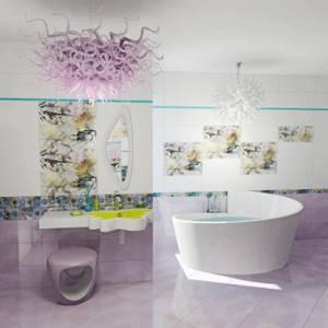 Каталог и цены: коллекция Fantasy Gracia Ceramica - Керамическая плитка — каталог для ванной цвет Бирюзовый
