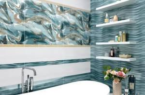Каталог и цены: коллекция Tori Alma Ceramica (Уралкерамика) - Керамическая плитка — каталог для ванной цвет Бирюзовый