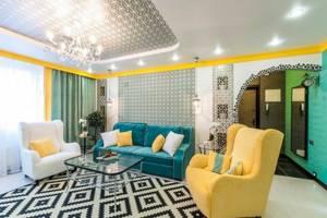 красивый стиль дома в горчичном цвете