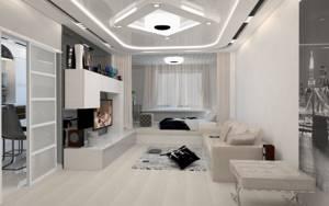 led-люстра в гостиной