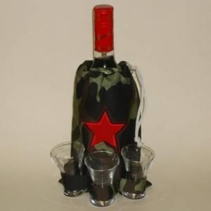 Оформление алкоголя в подарок мужчине